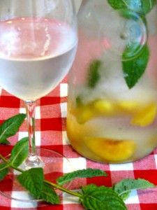 Cooling Peach Mint Water, great for hot days, hot flashes and BBQ's too! ... So refreshing, cools you down fast!