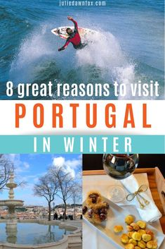 Discover why you should visit Portugal in winter. Learn about Portugal winter weather, places to go, what to wear and how to plan your winter trip. Portugal Travel Guide, Europe Travel Guide, Road Trip Europe, Visit Portugal, Rainy Day Activities, Countries To Visit, Ireland Travel, Winter Travel, European Travel