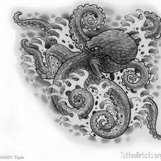 Japanese Octopus Tattoo 1