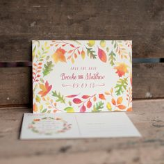 Watercolor Save the Date Postcard  The Autumn by starboardpress, $3.30