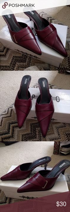 Pazzo Slip Ons Really comfy, wore once, excellent condition, maroon color, have box Pazzo Shoes