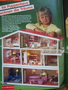 Dollhouse Design, Vintage Dollhouse, Dollhouse Dolls, Dollhouse Miniatures, Miniature Houses, Miniature Dolls, Denmark House, Right In The Childhood, Mini Doll House