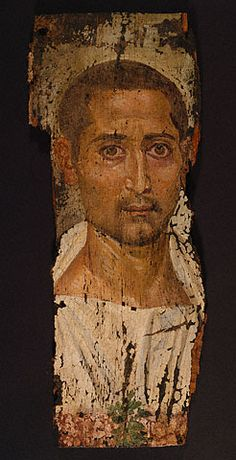 Mummy Portrait of a Bearded Man.  Unknown  Romano-Egyptian, Egypt, about A.D. 225 - 250  Encaustic on wood  18 11/16 x 7 1/2 in.  79.AP.141 (Getty Museum)