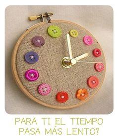 DIY-reloj con botones http://idoproyect.com/blog/home/diy-para-impacientes/