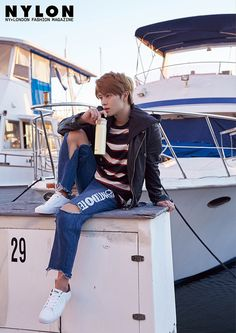 Photo )) BTOB Yook SungJae for October issue of Nylon Magazine 2017 Marie Claire, Sungjae Btob, Korean Actors, Korean Idols, Korean Drama, Asian Actors, Seong, Asian Boys, Kpop Boy