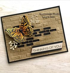 Foil Paper, Stampin Up Catalog, Butterfly Cards, Masculine Cards, Stamping Up, Creative Crafts, Homemade Cards, Stampin Up Cards, Happy Friday