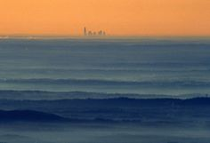 """""""The Charlotte, NC skyline as seen from the top of Grandfather Mountain approx. 100 miles away"""" North Carolina, I love you =)"""