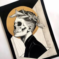 IG: i'm the king of everything and oh my tongue is a weapon Art Hoe, Skull Art, Ink Art, Love Art, Art Inspo, Art Reference, Amazing Art, Art Drawings, Art Projects