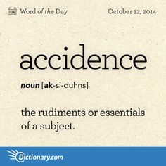 Accidence