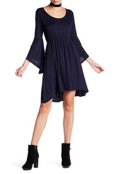 Image of Loveappella Angel Sleeve Baby Doll Dress