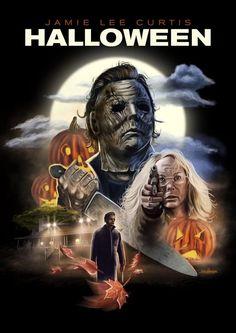 halloween poster Halloween Poster Art Artist Bob G - halloween Horror Icons, Horror Movie Posters, Horror Comics, Movie Poster Art, Halloween Poster, Halloween Movies, Halloween Horror, Halloween 2018, Diy Halloween