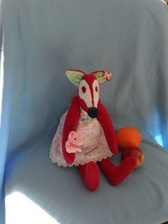 Softie Plush toy funny bunny fox tilda dol soft by FunnyBunny345