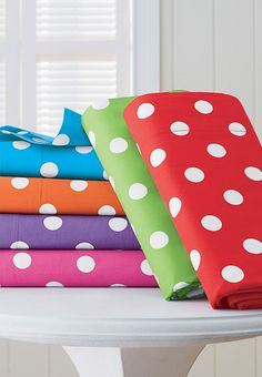 Bright Polka Dot Mix and Match Girls Bedding