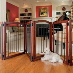 Six-panel Pet Gate and Crate