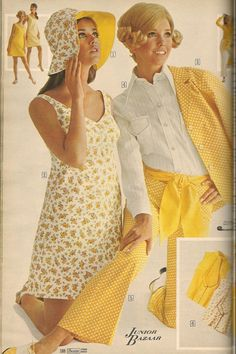 1969 Sears Spring Summer Colleen Corby 1960s Outfits, Vintage Outfits, Vintage Fashion, Vintage Clothing, Retro Fashion, Sixties Fashion, 90s Fashion, Womens Fashion, Vintage Yellow