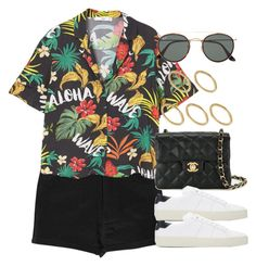 """Sin título #12939"" by vany-alvarado ❤ liked on Polyvore featuring Boohoo, MANGO, Chanel, Yves Saint Laurent, Ray-Ban and Made"