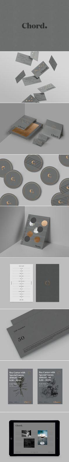 Chord Bar Branding and Menu Design by Xianwen Wei