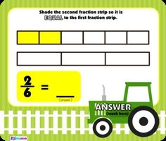 Fractions on the Farm SMART BOARD Game - Common Core Aligned - Have fun on the farm while comparing the size and equality of fractions using fraction strips. This self-checking Smart Board game is based on the 3rd grade common core standards 3.NF.A.3a, b, c, and d. $