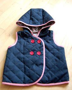Hooded vest - wool 'n' liberty