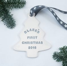 Are you interested in our First christmas tree decoration? With our Personalised ceramic tree decoration you need look no further.
