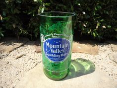 SALE Jumbo Drinking Glass made from an Upcycled Mountain valley sparkling water bottle by ConversationGlass, $15.30