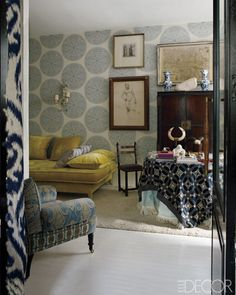 Madrid home of Lorenzo Castillo. Elle Decor, Simon Upton
