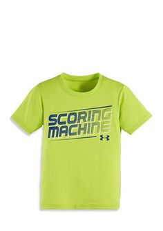 Under Armour® Short Sleeve Scoring Machine Tee Toddler Boys Toddler Boy Outfits, Toddler Boys, Under Armour, Boy Clothing, Clothes, Tees, Mens Tops, Shopping, Women