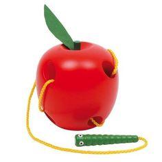 NEW CHILDRENS Wooden Threading Apple BABY TODDLER TOYS   eBay