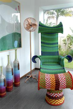 VENTILADOR GERBAR - COBRE - W30C PEDESTAL - Made in BRAZIL Na foto com cadeira da Moroso - M´Afrique www.gerbar.com.br