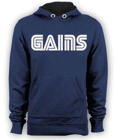 deep royal blue GAINS pullover hoodie