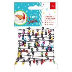 3m Christmas Lights Trim - Love Santa | docrafts.com