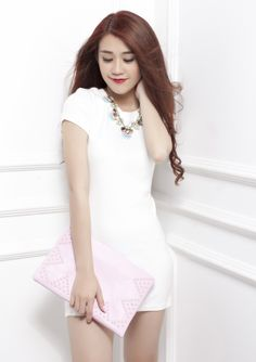 Little white dress Little White Dresses, Fashion, Fashion Styles, Fashion Illustrations, Trendy Fashion, Moda