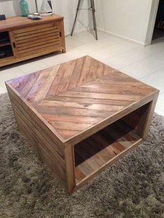 Pallet wood coffee table - with photos of the whole process