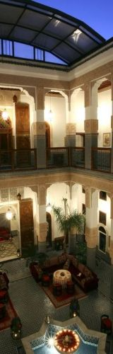 Riad Myra.  The pool in the center of the riad serves to 'air condition' the house as it cools the hot air.