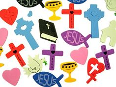 Religious Foam Sticker Assortment for Sunday School or Classroom, Container of 250 -- Click image for more details.