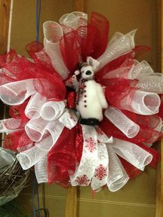 Mesh Penguin Wreath