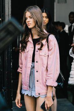 #offduty #streetstyle | Lucea Row #denimjacket