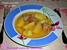Patatas guisadas con costillas para combatir el frío. Celebrando el #cuchareoTS ~ Cocinando para mis cachorritos