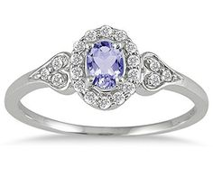 ba4f90de1 Tanzanite and Diamond Vintage Style Ring in 10k Gold. Double Wedding Bands, Ruby  Jewelry