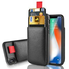 """iPhone X Wallet Case, iPhone X Card Holder Case, LAMEEKU Protective Leather Case with Hidden Credit Card Slot for Apple 5.8"""" iPhone X (2017 Release) https://topcellulardeals.com/product/iphone-x-wallet-case-iphone-x-card-holder-case-lameeku-protective-leather-case-with-hidden-credit-card-slot-for-apple-5-8-iphone-x-2017-release/ 【Apple iPhone X Wallet case】: ONLY fit for Apple iPhone X 5.8 Inches Display.(2017 Release).100% HADNMADE craftmanship and reinforced stitching"""