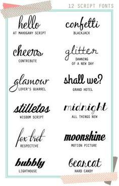 12 Free Script Fonts