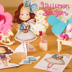 Lily Lemon Blossom Paper Doll. Have fun dressing Lily in one of her favorite outfits. Cute huh? *Free printable - Part of the Lily Lemon Blossom newsletter.