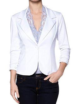 A.S Juniors Casual Three Quarter Sleeve Fitted Blazer (Medium, White) Apparel Sense http://www.amazon.com/dp/B00U1R23GG/ref=cm_sw_r_pi_dp_9w9iwb167F1E4