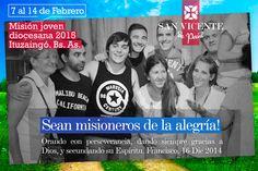 Misión de verano 2015. Sábado 7 al sábado 14 de febrero en Ituzaingó. Bs. As.Parroquia San Vicente de Paúl