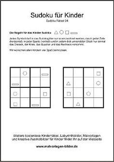 kindersudoku 4x4 leicht deutsch pinterest r228tsel