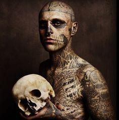 Rick Genest #tattoo #skull