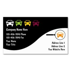 Auto Business Cards. I love this design! It is available for customization or ready to buy as is. All you need is to add your business info to this template then place the order. It will ship within 24 hours. Just click the image to make your own!