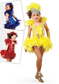 5090 - Birdland - Fly with the birds in this sequin dot and foil lycra leotard with attached sequin dot skirt and boa feather trim. Comes in Red, Royal Blue and Yellow.