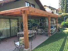 Pérgolas, Cobertizos, Quinchos, Cortavistas y Deck   Diseño de terrazas, Pino Oregón