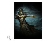 Gunslinger Picture by James Ryman Home Guard, Steampunk Clock, Long Gray Hair, Wooden Crosses, 3d Pictures, Tentacle, Western Cowboy, Marine Life, Octopus